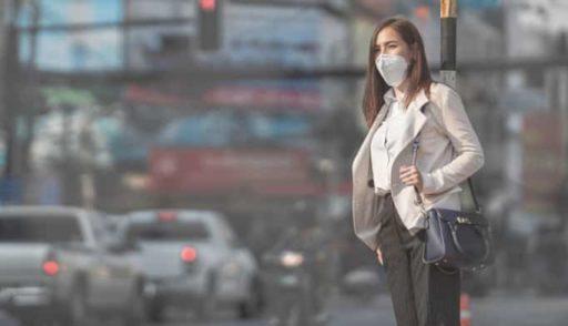 Mascarilla para polución de las ciudades