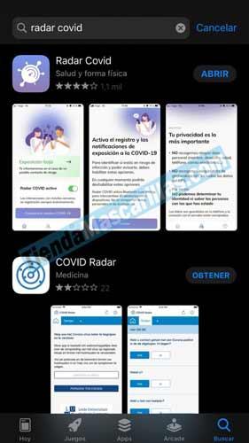 Aplicación RADAR COVID