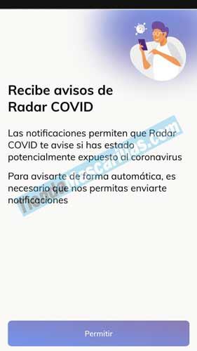 Notificaciones RADAR COVID